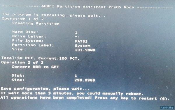 Chuyển đổi GPT và MBR giữ nguyên windows