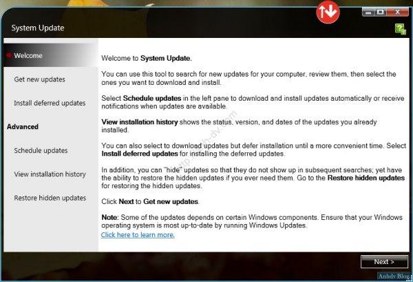 Cài đặt driver tự động Lenovo Welcome