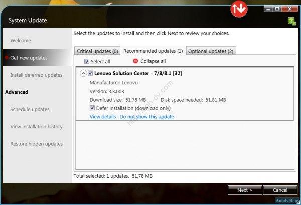 Cài đặt driver tự động Lenovo New update