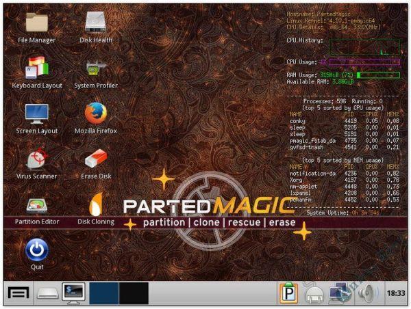 Cứu hộ máy tính với Parted Magic