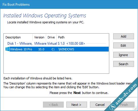 Sửa lỗi BCD, Winload.exe, Winload.efi, Recovery Fix Boot Macrium Reflect 2