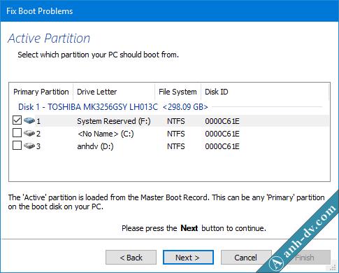 Sửa lỗi BCD, Winload.exe, Winload.efi, Recovery với Macrium Reflect
