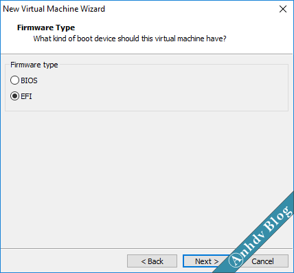 Tạo máy ảo VMware UEFI Legacy 6