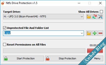 Bảo vệ usb khởi virus, chống ghi xóa dữ liệu 1