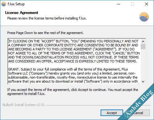 Phần mềm bảo vệ mắt khi dùng máy tính thường xuyên flux 1