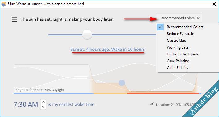 Phần mềm bảo vệ mắt khi dùng máy tính thường xuyên flux 3