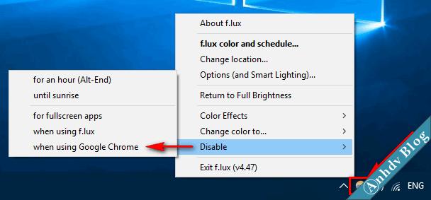 Phần mềm bảo vệ mắt khi sử dụng máy tính thường xuyên Flux 5