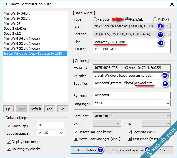 Tích hợp bộ cài Win vào USB cứu hộ Anhdv Boot 2