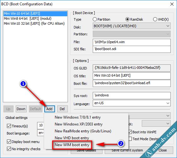 Tích hợp bộ cài Win vào USB cứu hộ Anhdv Boot 3