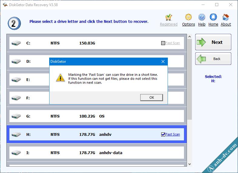 Khôi phục dữ liệu bị mất do Format nhầm với DiskGetor Data Recovery 2