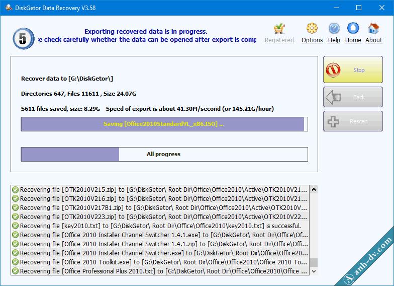 Khôi phục dữ liệu bị mất do Format nhầm với DiskGetor Data Recovery 7