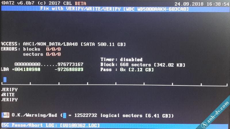 Sửa lỗi ổ cứng bị bad sector nặng với phần mềm HDAT2 8