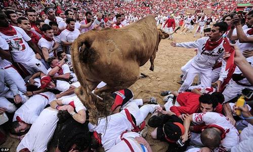 Lạ kỳ lễ hội bò tót rượt người ở Tây Ban Nha - 4