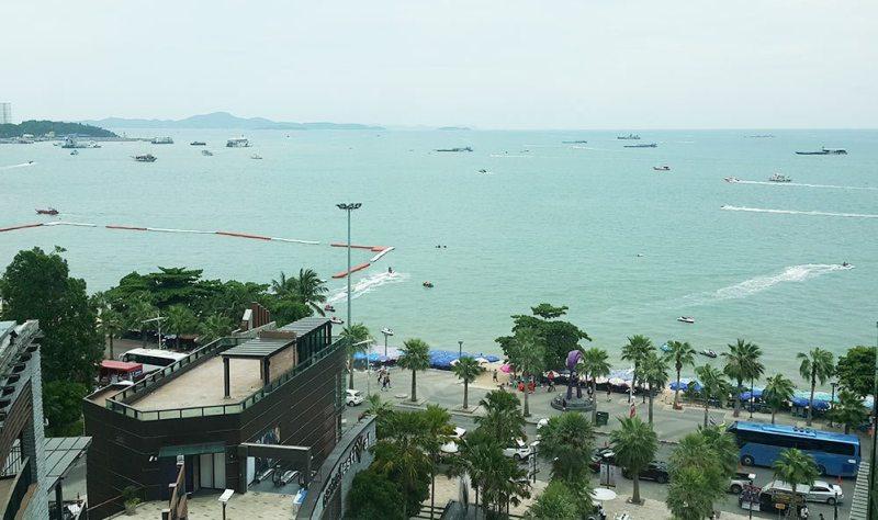 Biển Pattaya nhìn từ trung tâm thương mạiCentral Festival Pattaya