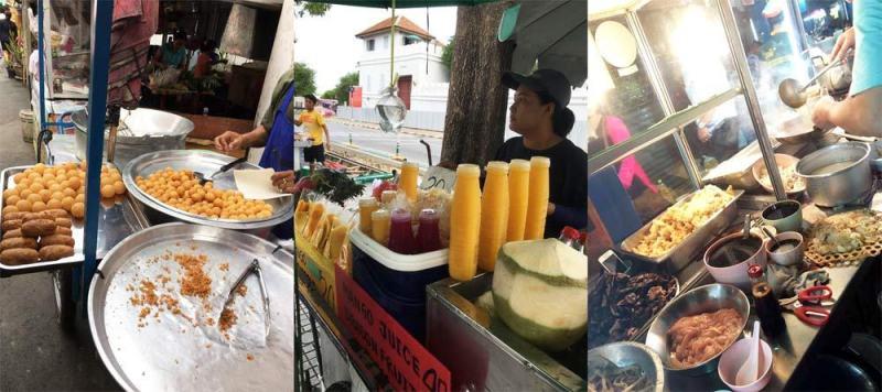 Đồ ăn vặt trên đường phố Bangkok rất nhiều