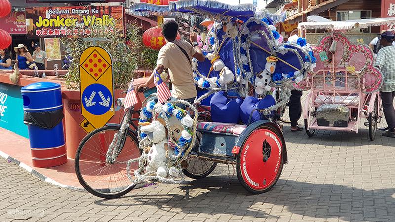 Xe thú bông ở Malacca