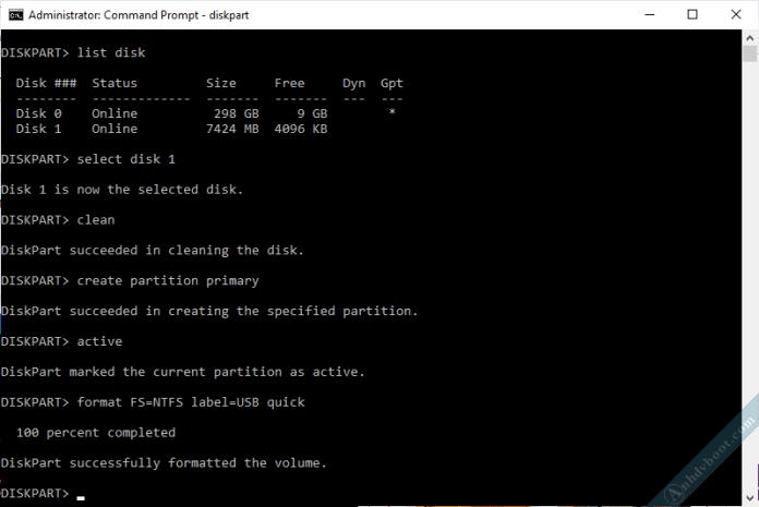 Xóa phân vùng usb để sửa lỗi tạo usb boot 4