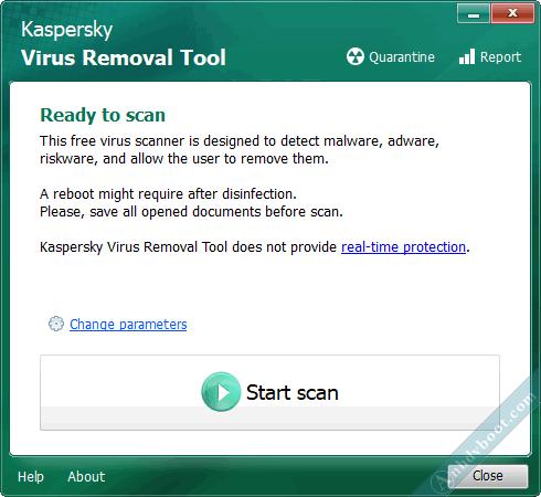 quét virus trên winpe với Kaspersky Virus Removal Tool 4