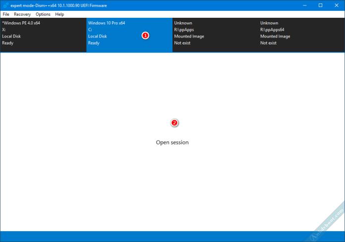 Gỡ bản cập nhật Windows với phần mềm Dism ++ trên WinPE 3