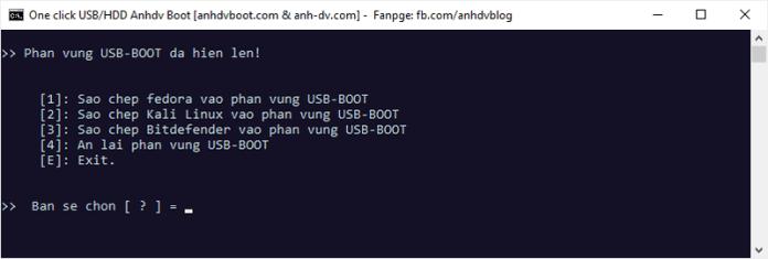 Hiện phân vùng ẩn USB-BOOT Anhdv