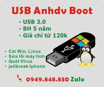 USB Anhdv Boot tích hợp sẵn bộ cài Windows