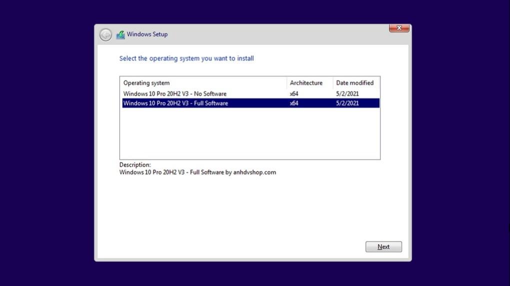 Windows 10 20H2 Pro Anhdv V3 AIO 2in1