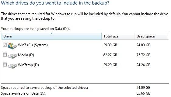Windows 7 System Image
