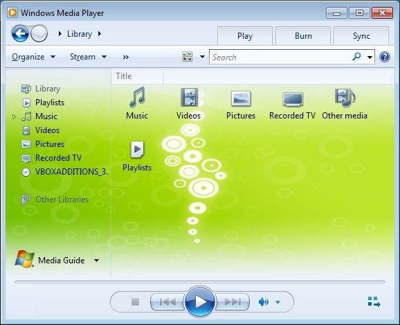 Windows Media Player Wallpaper