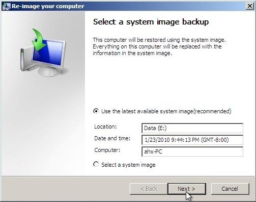 Win7 Image Restore 4