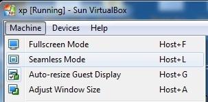 Virtual Box - Steamless Mode