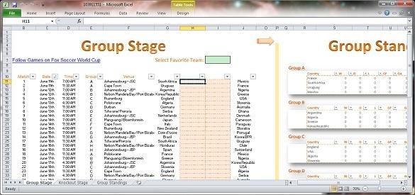 FifaWorldCup 2010 Schedule