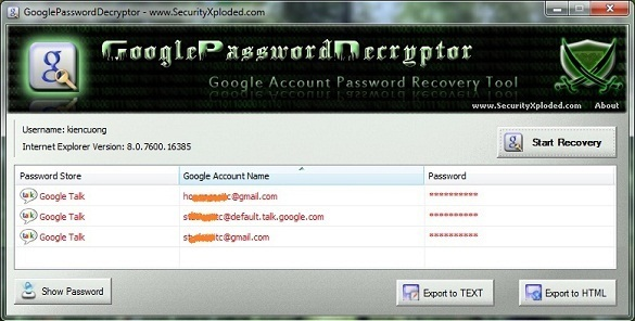 GooglePasswordDecryptor