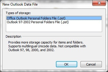 Outlook Data File Management pst