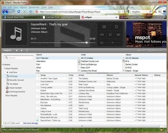 mSpot – Đồng bộ nhạc từ máy tính và nghe mọi lúc mọi nơi