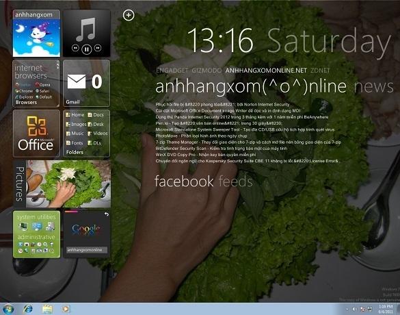 Biến giao diện Desktop thành giao diện của Windows 8