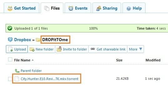 Cài đặt uTorrent tự động tải file thông qua Dropbox