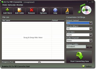 FLV To MP3 Converter - Nhận key bản quyền miễn phí