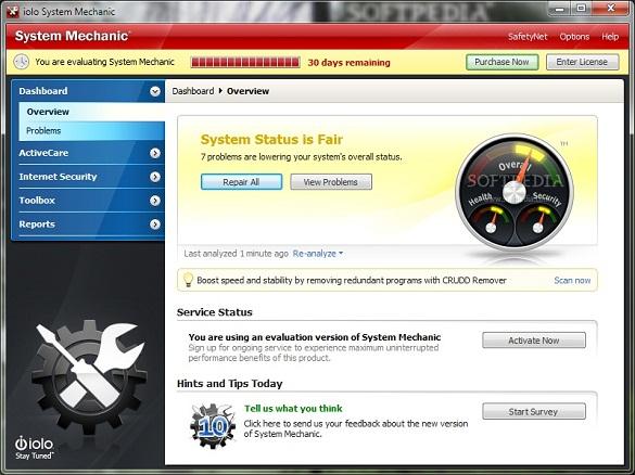 System Mechanic 10.5 - Nhận key bản quyền 6 tháng miễn phí