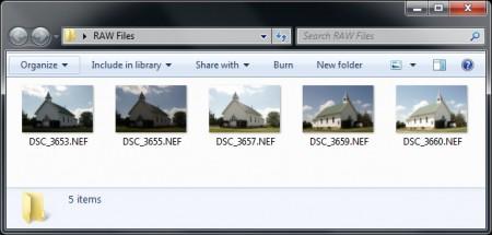 Microsoft Camera Codec Pack - Giúp Windows Explorer xem được ảnh dạng RAW