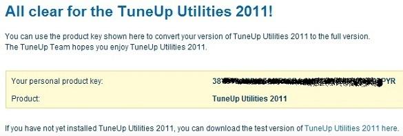 TuneUp Utilities 2011 - Nhận key bản quyền miễn phí