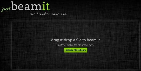 JustBeamIt - Dịch vụ gửi file trực tiếp không giới hạn dung lượng