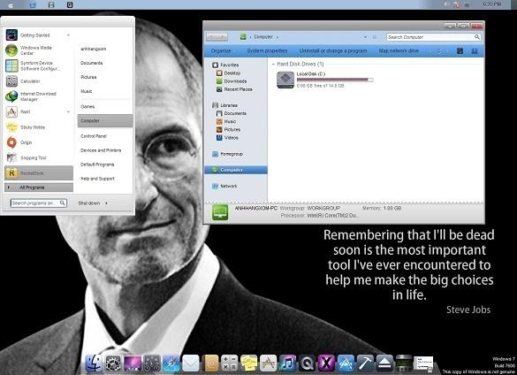 iOS skin pack - Biến giao diện Win7 thành MacOS