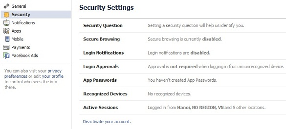 Các tính năng bảo mật tăng cường của Facebook