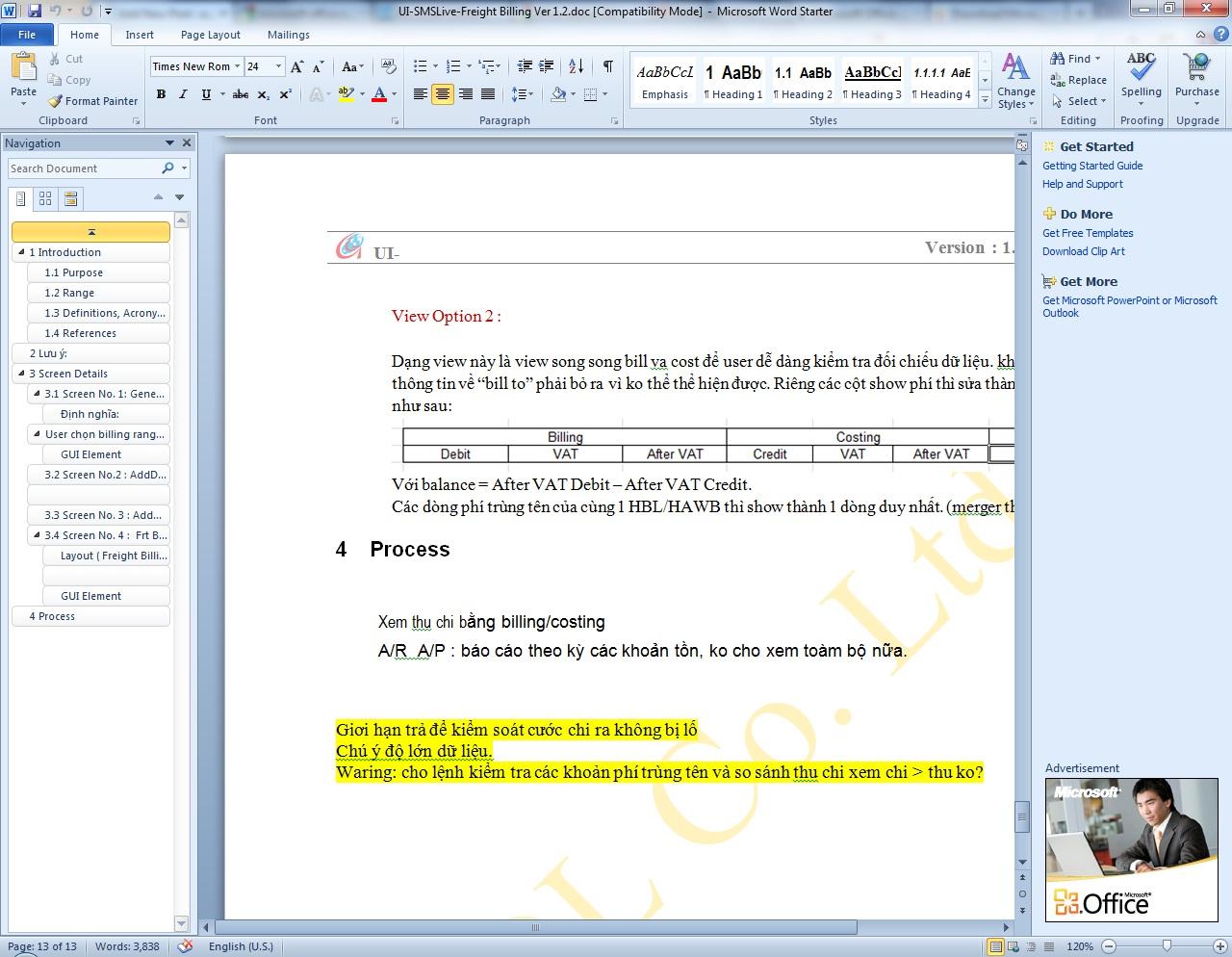 Microsoft Office Starter 2010 - Link tải bản cài đặt miễn phí từ Microsoft
