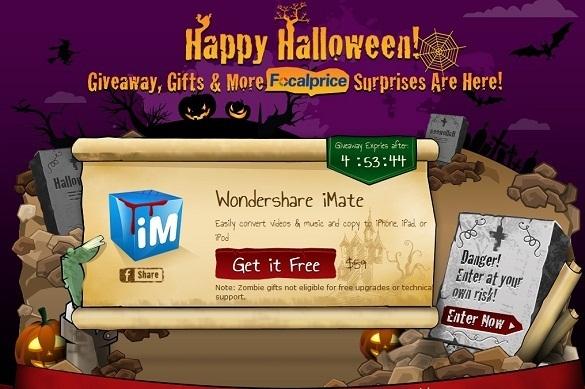 Wondershare iMate - Nhận key bản quyền miễn phí trong đêm Halloween