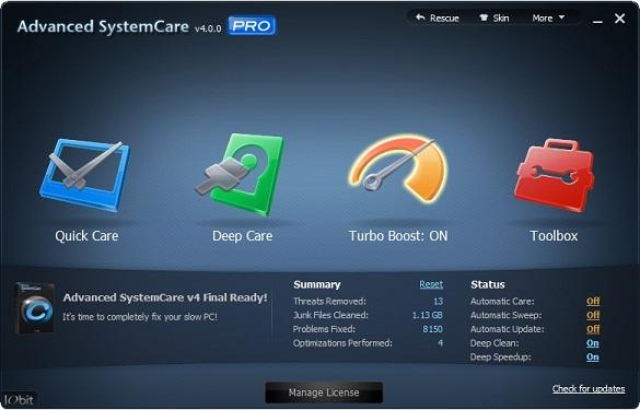IObit Advanced SystemCare PRO 4.2 - Nhận key bản quyền miễn phí