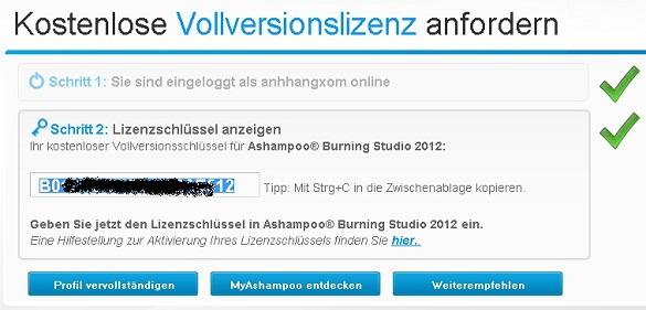 Ashampoo Burning Studio 2012 - Nhận key bản quyền miễn phí