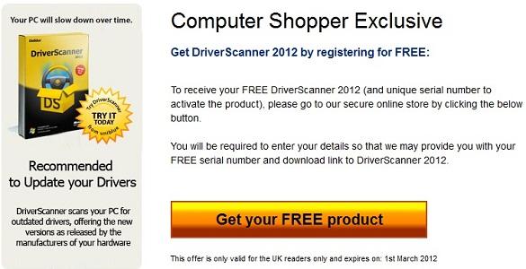 Uniblue DriverScanner 2012 - Nhận key bản quyền miễn phí