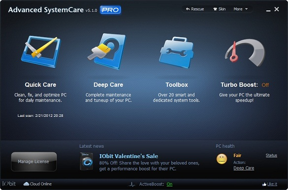 IObit Advanced System Care 5 Pro - Nhận key bản quyền miễn phí