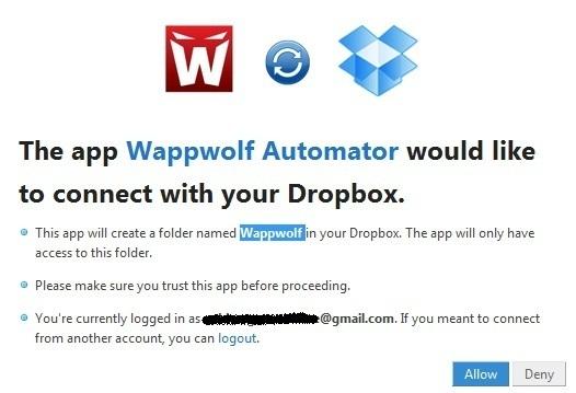 Dropbox Automator - Tự động thực hiện các tác vụ khi chép dữ liệu vào Dropbox